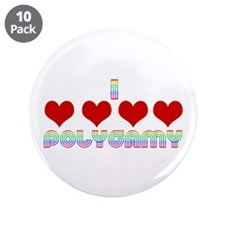 "I Love Polygamy 3.5"" Button (10 pack)"