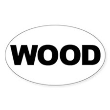 WOOD Oval Decal