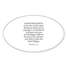 EXODUS 12:13 Oval Decal