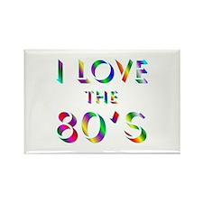 Love 80's Rectangle Magnet