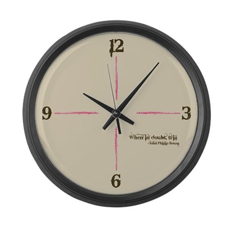 When in Doubt, Trill Large Wall Clock