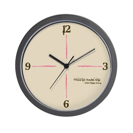 When in Doubt, Trill Wall Clock