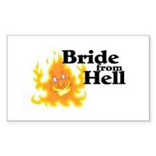 Bride From Hell Rectangle Decal