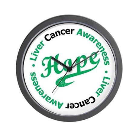 Liver Cancer Hope Wall Clock