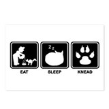 Eat Sleep Knead Postcards (Package of 8)