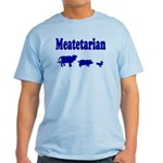 Meatetarian Blue on Tarheel Blue T-Shirt