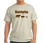 Meatetarian Brown on Natural T-Shirt