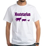 Meatetarian Purple on Shirt