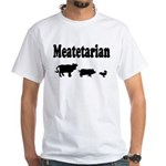 Meatetarian Black on White T-Shirt