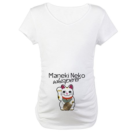 Maneki Neko Whisperer Maternity T-Shirt