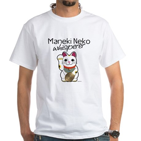 Maneki Neko Whisperer White T-Shirt