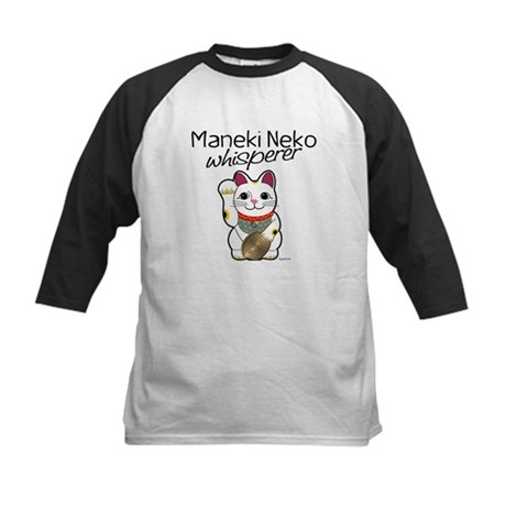Maneki Neko Whisperer Kids Baseball Jersey