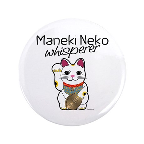 "Maneki Neko Whisperer 3.5"" Button (100 pack)"