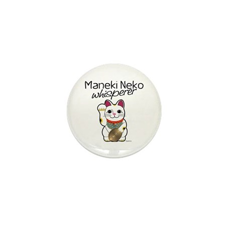 Maneki Neko Whisperer Mini Button (10 pack)
