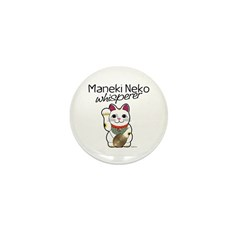 Maneki Neko Whisperer Mini Button (100 pack)