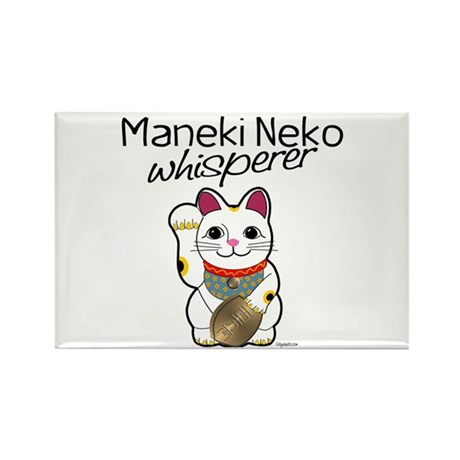 Maneki Neko Whisperer Rectangle Magnet (10 pack)