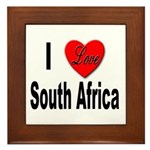I Love South Africa Framed Tile