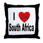 I Love South Africa Throw Pillow