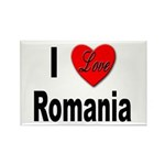 I Love Romania Rectangle Magnet (10 pack)