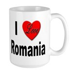 I Love Romania Large Mug