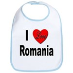 I Love Romania Bib