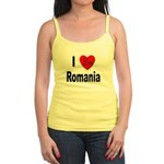 I Love Romania Jr. Spaghetti Tank
