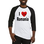 I Love Romania Baseball Jersey
