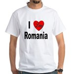 I Love Romania (Front) White T-Shirt