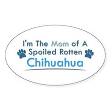 Spoiled Rotten Poodle Oval Stickers