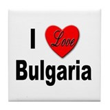 I Love Bulgaria Tile Coaster