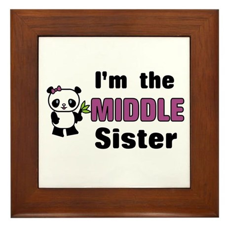 Middle Sister Framed Tile