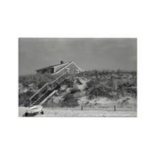 Cape Cod Beach House (b&w) Rectangle Magnet