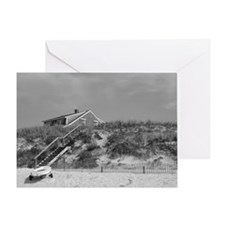 Cape Cod Beach House (b&w) Greeting Card