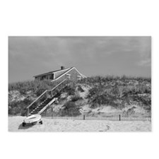 Cape Cod Beach House (b&w) Postcards (Package of 8