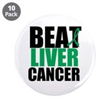 "Beat Liver Cancer 3.5"" Button (10 pack)"