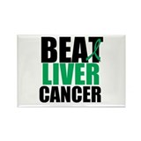 Beat Liver Cancer Rectangle Magnet (10 pack)