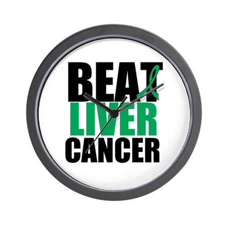 Beat Liver Cancer Wall Clock