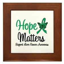 HopeMatters Liver Cancer Framed Tile