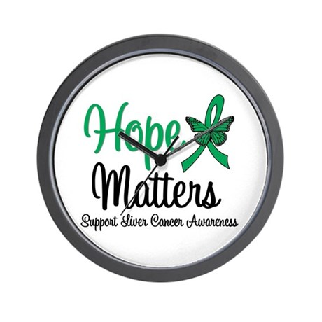 HopeMatters Liver Cancer Wall Clock