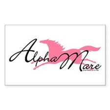 Alpha Mare Saying Rectangle Decal