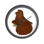 English Trumpeter Red Wall Clock