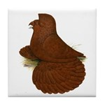 English Trumpeter Red Tile Coaster