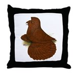 English Trumpeter Red Throw Pillow