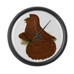 English Trumpeter Red Large Wall Clock