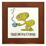 Cofee Alien Framed Tile