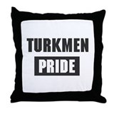 Turkmen pride Throw Pillow