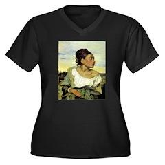 Orphan Women's Plus Size V-Neck Dark T-Shirt