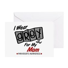 I Wear Grey For My Mom 8 PD Greeting Card