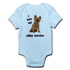 Silky Terrier Love Infant Bodysuit