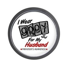 I Wear Grey For My Husband 8 PD Wall Clock